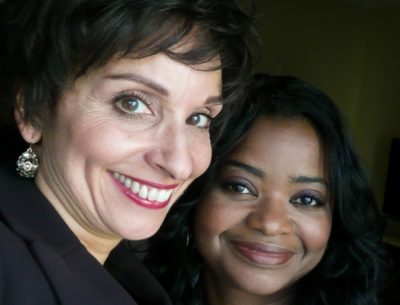 Kathleena Gorga with Academy Award winner Octavia Spencer