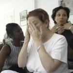 Kathleena Gorga leading a Conscious Beauty Workshop at Chrysalis Rehab in Oakland