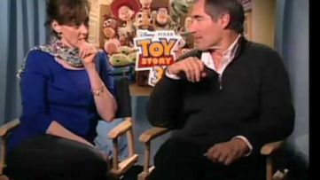 Toy Story 3 Joan Cuack (Jessie) and Timothy Dalton (Mr. Pricklepants) Interview